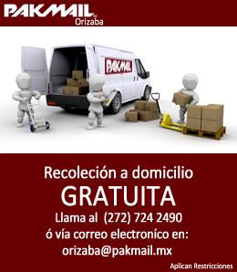 pakmail recoleccion gratuita Orizaba
